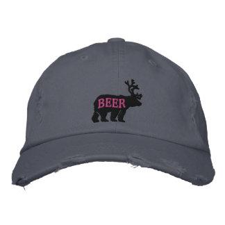 Ciervos del oso o declaración bordada grabada en gorra de beisbol