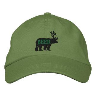 Ciervos del oso o declaración bordada grabada en gorra de béisbol