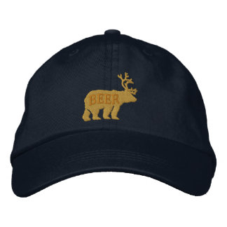 Ciervos del oso o declaración bordada grabada en gorras de béisbol bordadas