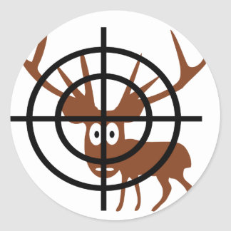 Ciervos del retículo pegatina redonda