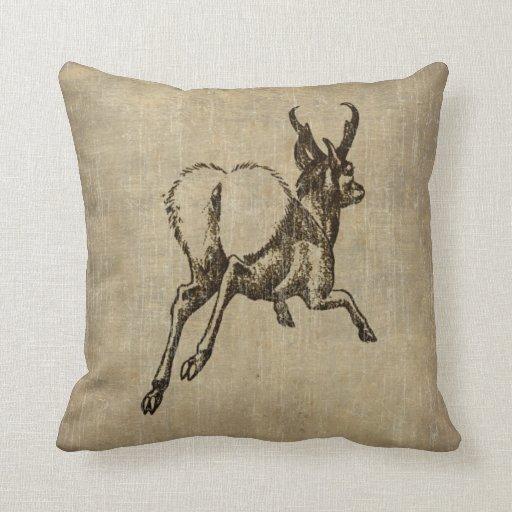 Ciervos del vintage cojín decorativo