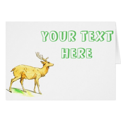 Ciervos del vintage tarjeta de felicitación