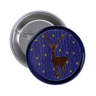 Ciervos del zodiaco del nativo americano de la Cue Pin