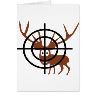 ciervos divertidos en icono del retículo tarjeta de felicitación