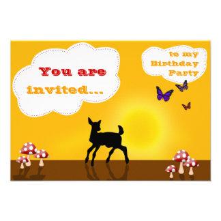 Ciervos dulces - tarjeta de la invitación del