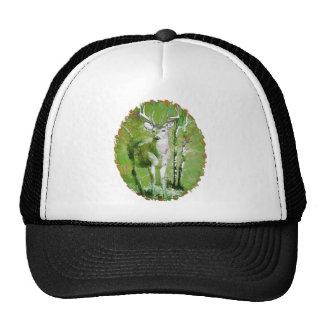 Ciervos en colores de la caída gorra