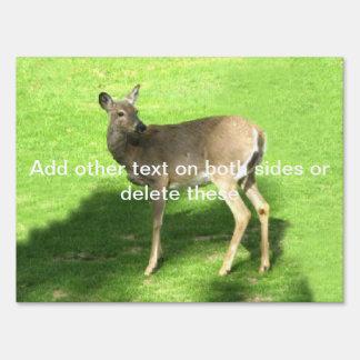 Ciervos en hierba carteles