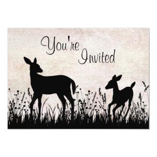 Ciervos en la invitación de la fiesta de invitación 12,7 x 17,8 cm