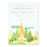 Ciervos en la invitación rústica del boda del invitación 12,7 x 17,8 cm