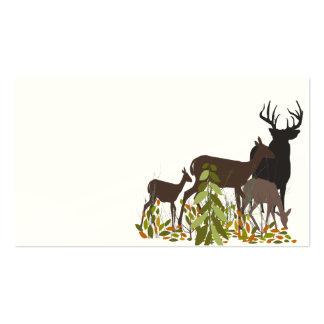 Ciervos en madera. Navidad Tarjetas De Visita