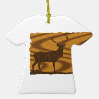 Ciervos en nuez adorno de cerámica en forma de playera