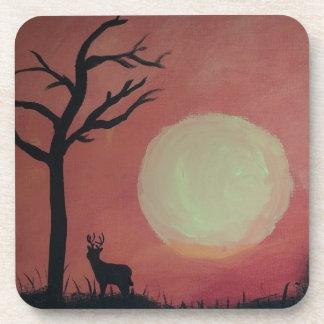 Ciervos en sunset.jpg posavasos de bebidas