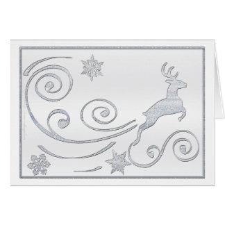 Ciervos estilizados tarjeta de felicitación