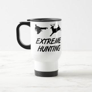 Ciervos extremos del retroceso del karate de la ca tazas de café
