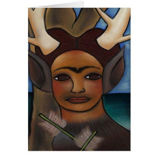 Ciervos Frida Tarjeta