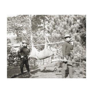 Ciervos Hunting, 1902 Lona Envuelta Para Galerías