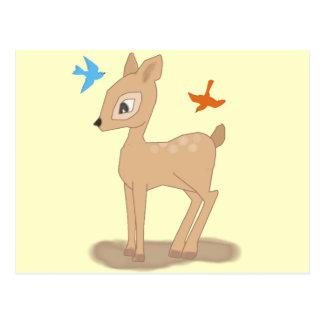 Ciervos lindos del bebé postal