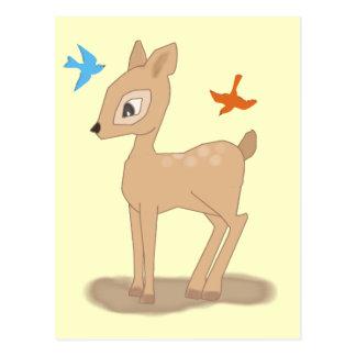 Ciervos lindos del bebé tarjeta postal