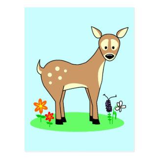 Ciervos lindos del dibujo animado tarjetas postales