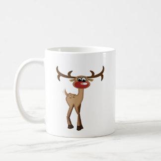 Ciervos lindos del dibujo animado taza