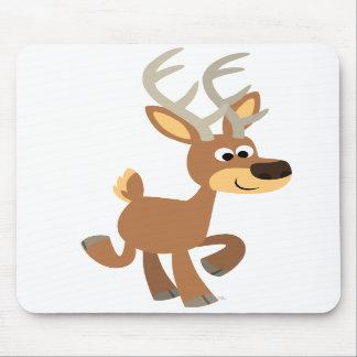 Ciervos lindos Mousepad del dibujo animado el trot