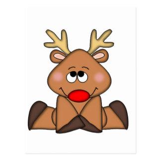 Ciervos lindos navidad postal