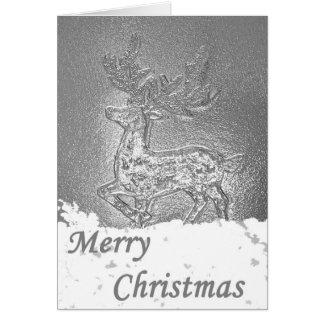 Ciervos/macho de las Felices Navidad Tarjetón