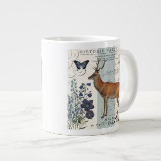 ciervos modernos del arbolado del vintage taza grande