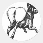 Ciervos Pegatina Redonda