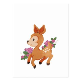 Ciervos Prancing lindos con los rosas