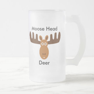 Ciervos principales de Head_Moose de los alces Taza De Cristal