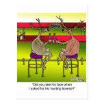 Ciervos que piden una licencia de caza postal