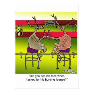 Ciervos que piden una licencia de caza tarjeta postal