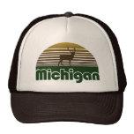 Ciervos retros de Michigan Gorras De Camionero