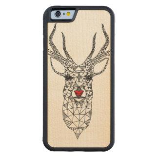 Ciervos rojos de la nariz del navidad geométrico funda de iPhone 6 bumper arce