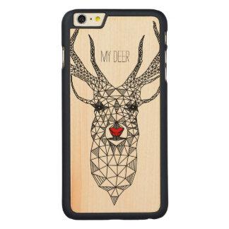 Ciervos rojos de la nariz del navidad moderno funda de arce carved® para iPhone 6 plus