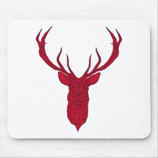 Ciervos rojos del navidad con el modelo geométrico tapete de ratón