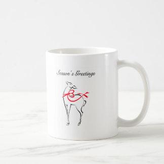 Ciervos rojos elegantes del navidad del arco tazas de café
