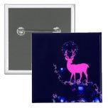 ciervos rosados del mito en botón de la noche del  pin