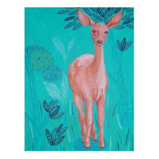 Ciervos rosados tarjeta postal