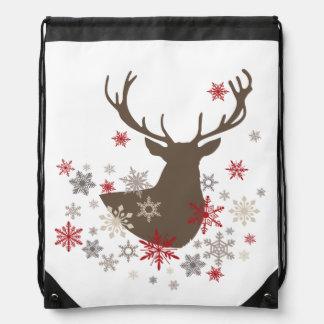 ciervos rústicos y copos de nieve del vintage mochilas