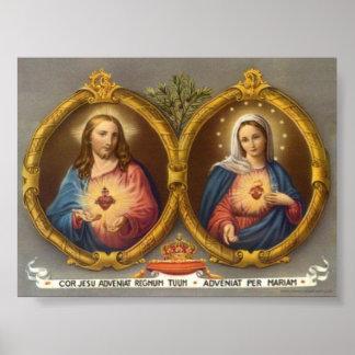 Ciervos sagrados de Jesús y de Maria Poster