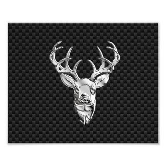 Ciervos salvajes de plata en la decoración del fotografías