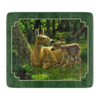 Ciervos y cervatillo Forest Green de la madre Tablas De Cortar
