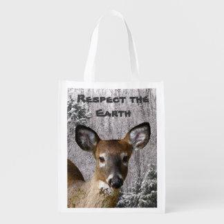 Ciervos y colinas escarchadas - Día de la Tierra Bolsas Para La Compra