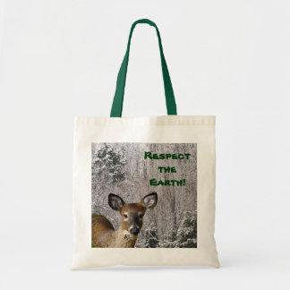 Ciervos y Día de la Tierra escarchado de las colin Bolsa De Mano