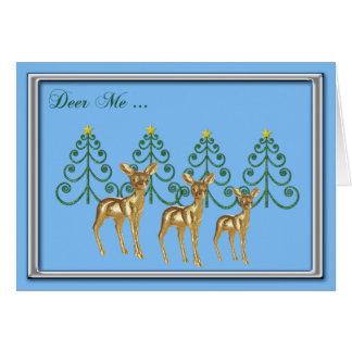 Ciervos yo tarjeta de Christrmas