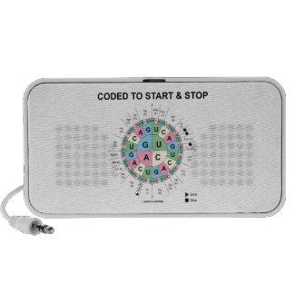 Cifrado para comenzar y para parar (rueda del iPod altavoz