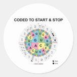 Cifrado para comenzar y para parar (rueda del codó pegatina