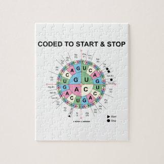 Cifrado para comenzar y para parar (rueda del puzzles